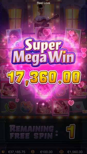 Reel Love super mega wins
