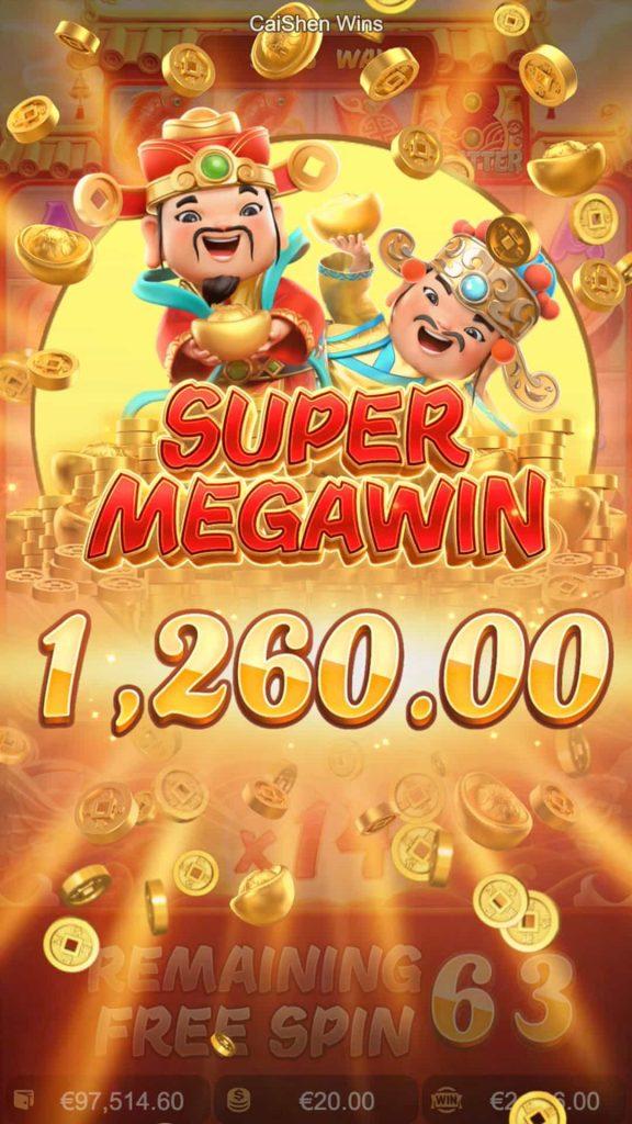 cai shen wins super mega win