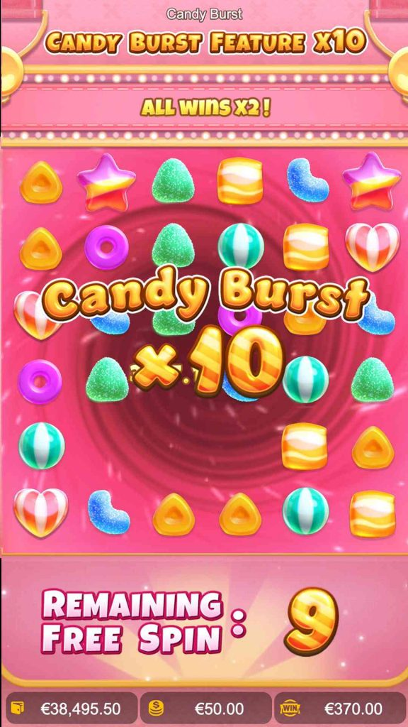candy burst feature