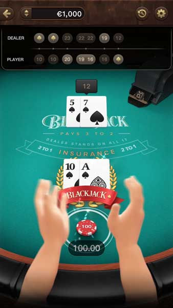 American Blackjack feature