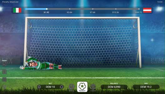 PENALTY SHOOT-OUT feature