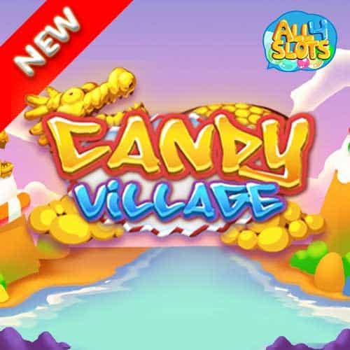 candy village banner